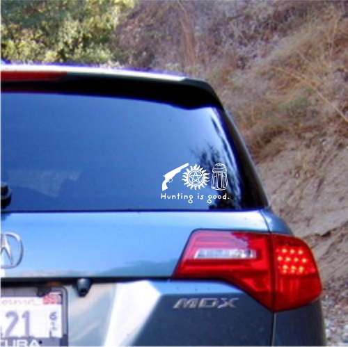 Supernatural hunting is good Gun Anti-Possession Salt Car Sticker Vinyl Decal