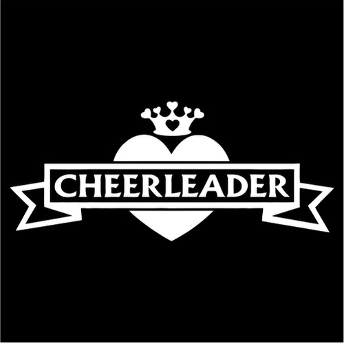 Cheerleader Ribbon Heart Crown Jpeg