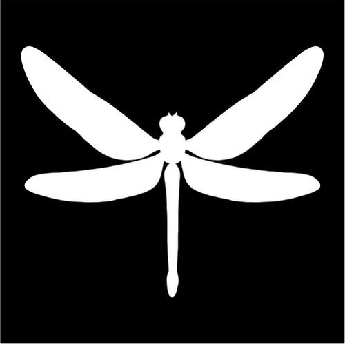 Dragonfly Silhouette Die Cut Vinyl Decal Sticker