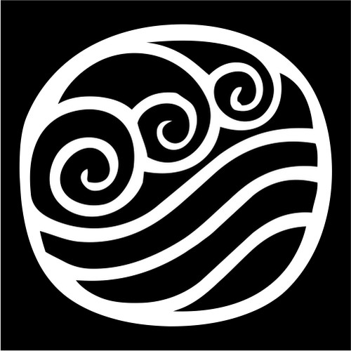 Water Tribe Symbol Avatar the Last Airbender Vinyl Die Cut Decal    Avatar The Last Airbender Water Symbols