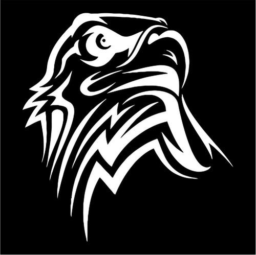 Tribal Eagle Head Patriotic Jpeg