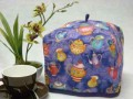 Tea Cozy (Standard) - Purple with Pretty Teapots by OneMark Creations