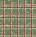 Stand Mixer  Cover - Holiday Plaid - Green by OneMark Creations