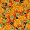 Blender Cover - Deco Dance Flowers - Orange by OneMark Creations