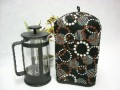 French Press Cozy - Java Pearls by OneMark Creations