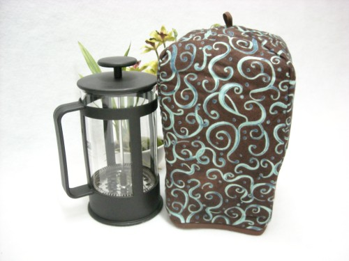 French Press Cozy - Deja Brew Swirls by OneMark Creations