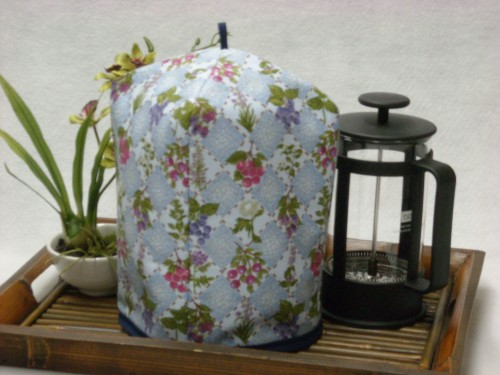 French Press Cozy - Fruit and Flowers by OneMark Creations