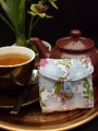 Tea Bag Travel Wallet - Fruit and Flowers by OneMark Creations