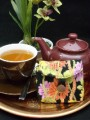 Tea Bag Wallet - Tropical Flowers - Small by OneMark Creations