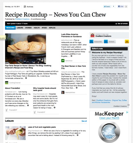 Recipe Roundup - News You Can Chew