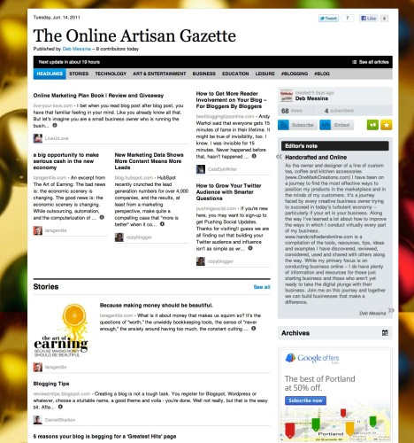The Online Artisan Gazette