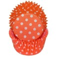 Orange & White Polka Dot Cupcake Liners.jpeg