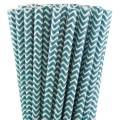 Turquoise Blue Chevron Paper Straws.jpeg
