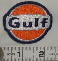 VINTAGE GULF GAS & OIL RACING SPONSOR EMBROIDERED PATCH