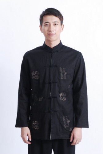 Men's Chinese Mandarin Reversable Jacket Kung fu Tai chi TM68