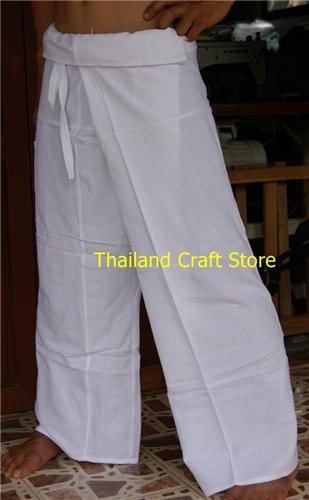 Thai Fisherman Pants Trousers Tai Chi Kung Fu Yoga Capoeira Hippie Boho FL02