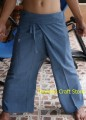 Thai Fisherman Pants Trousers Tai Chi Kung Fu Yoga Capoeira Hippie Boho FL04