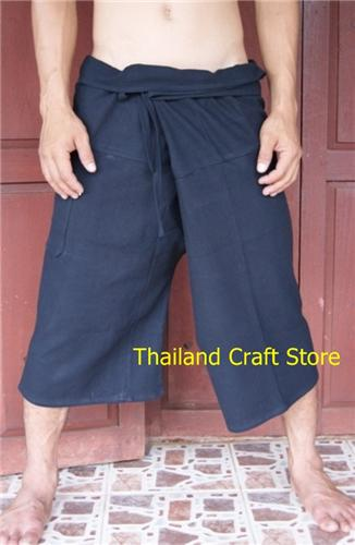 Thai Fisherman Yoga Kung Fu Tai Chi Martial Arts 3/4 Length Pants Trousers Hippie FS01