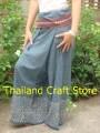 Vintage Thai Fisherman Wrap Pants Trousers Yoga Boho Massage Bohemian Hippie KP03