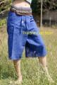 Cotton Thai Fisherman Yoga Tai Chi Capri Cropped 3/4 Length Pants Trousers TCS06