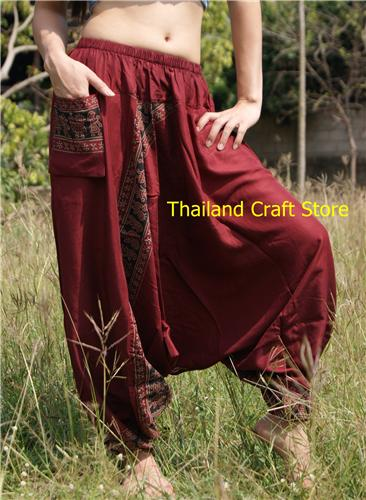 Ethnic Afghan Harem Baggy Pants Trousers Yoga Dance Boho Hippie Genie Aladdin MT02