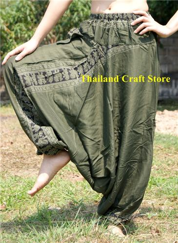 Ethnic Afghan Harem Baggy Pants Trousers Yoga Dance Boho Hippie Genie Aladdin MT05