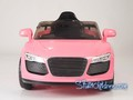 wm, Audi R8, 9926, kids electric ride on car, kids audi, kids R8, pink, full front.jpeg