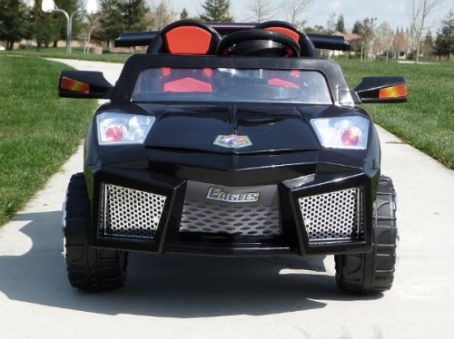 2 seater kids electric ride on lamborghini kids car 12v remote seatbelt mp3 black