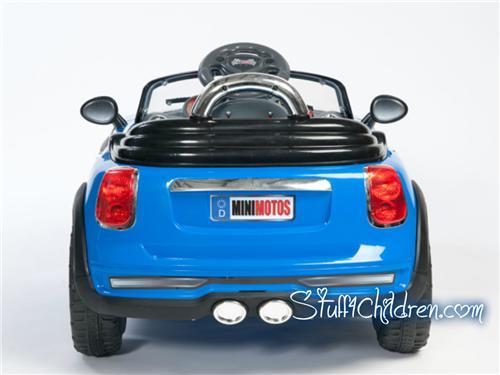 licensed mini cooper electric ride on car for kids remote control seatbelt mp3 blue