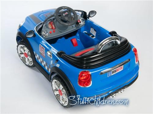 mini motos kids mini cooper electric car blue ride on remote control