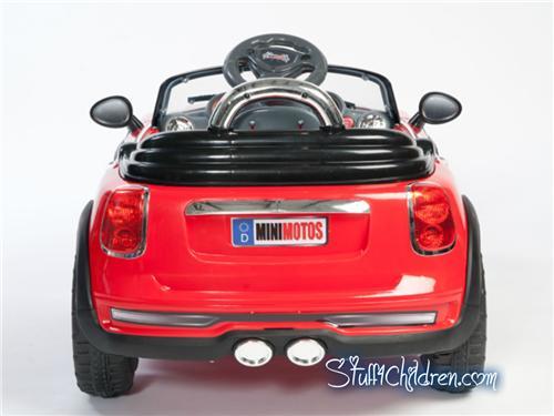 mini motos kids mini cooper electric car red ride on remote control