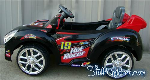 children can also be allowed to drive this hot little kids electric ride on car using the foot pedal and steering wheel