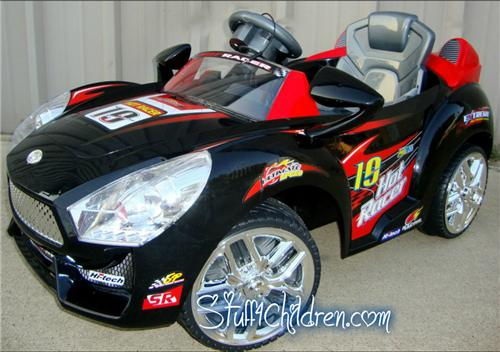 639r kids ride on car hot racer 19 battery operated remote control mp3 black