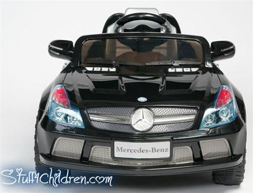 wm licensed mercedes sl65 kids car battery operated ride on black full frontjpeg