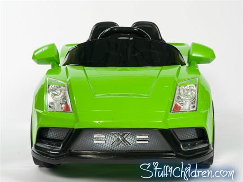 wm lamborghini racer x kids car battery operated ride on power wheels green full front