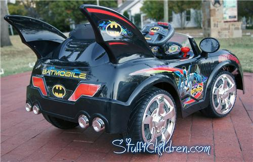 batmobile batman kids car kids electric ride on remote control dark blue