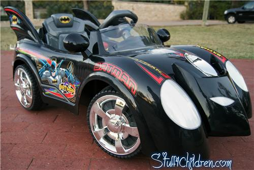 wm batman batmobile kids electric ride on car battery operated front side blackjpeg