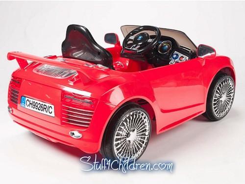 12v audi r8 autobahn style kids electric ride on car battery powered mp3 hookup adjustable seat belt parental remote control