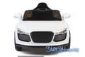 wm, Audi R8, 9926, kids electric ride on car, kids audi r8, white, full front.jpeg