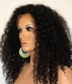 Human Hair Blend Kinky Curl Full Lace Front Wig 26in!!