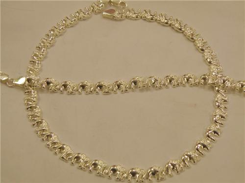 silver xoxo chain \u0026 bracelet /elephant/ Personalized