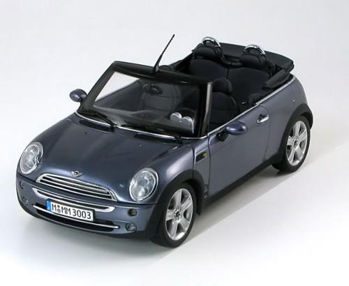 1 18 kyosho mini cooper cabrio grey special edition by bmw. Black Bedroom Furniture Sets. Home Design Ideas