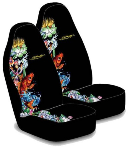 Ed Hardy Koi Fish Seat Cover Pair Everything4cars