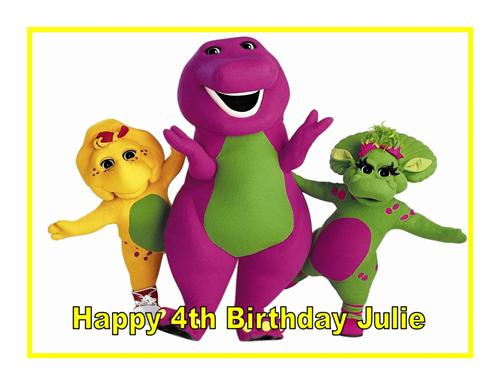 Barney Cake Toppers
