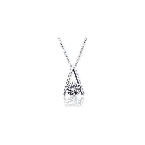 White gold pendant white gold diamond solitaire pendant necklace 25 round cut diamond jewelry white gold solitaire pendant necklace aloadofball Gallery