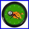 Wall Clock 8 BALL Billards Sign Pool Eight Game Table (11541916)