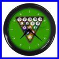 Wall Clock 8 BALL Table Billards Sign Pool Eight Game (11541917)