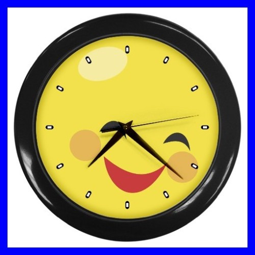 Wow Smiley Face Wall clock smiley face boysWow Face Clip Art