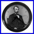 Wall Clock ABRAHAM LINCOLN President U.S. Flag Statue (11776706)