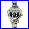 Heart Charm Watch 3 MONKEYS See Hear Speak Animal Girls (12173992)